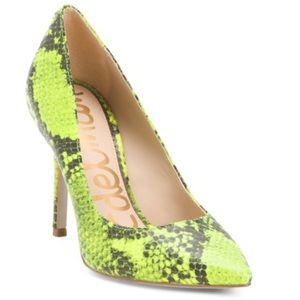 Sam Edelman snake print heels NWB